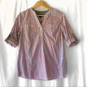 White, blue & red Tommy Hilfiger button down top